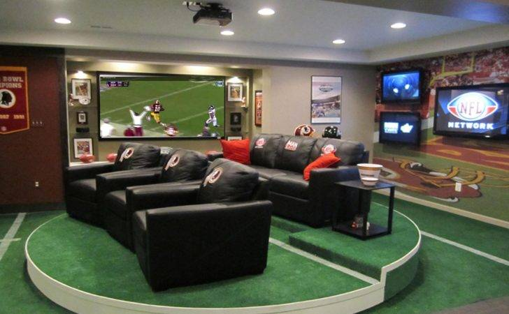 Man Caves Room Design Large Lcd Hang Grey Wall Painted Ideas
