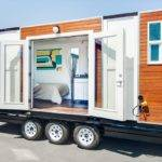 Man Converts Shipping Container Into Tiny Home Wheels