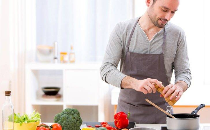 Man Cooking Kitchen