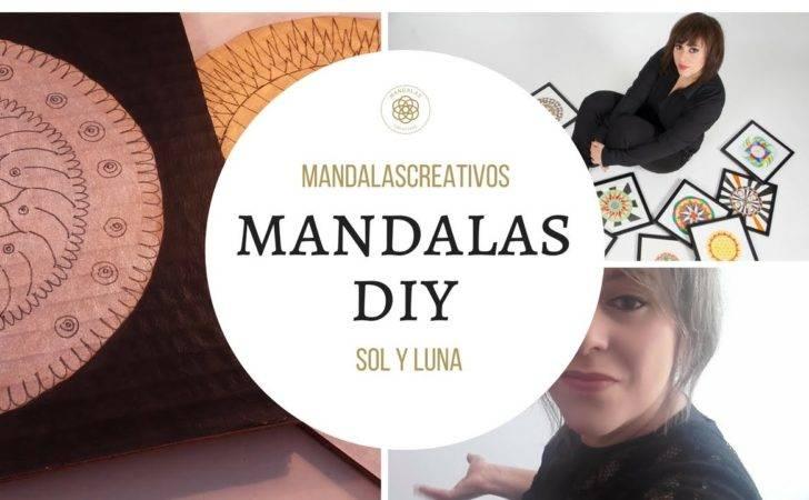 Mandala Diy Sol Luna Youtube