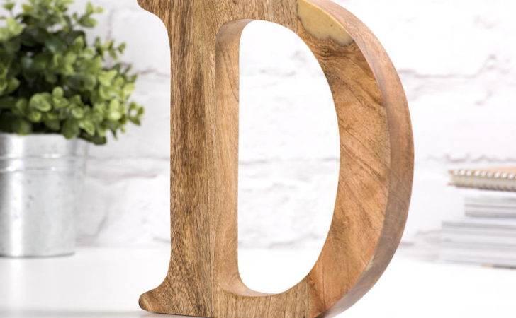 Mango Wood Letter Letteroom Notonthehighstreet