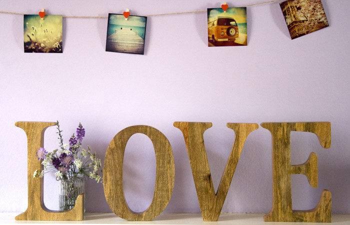 Mango Wood Love Letters Wedding Teacup