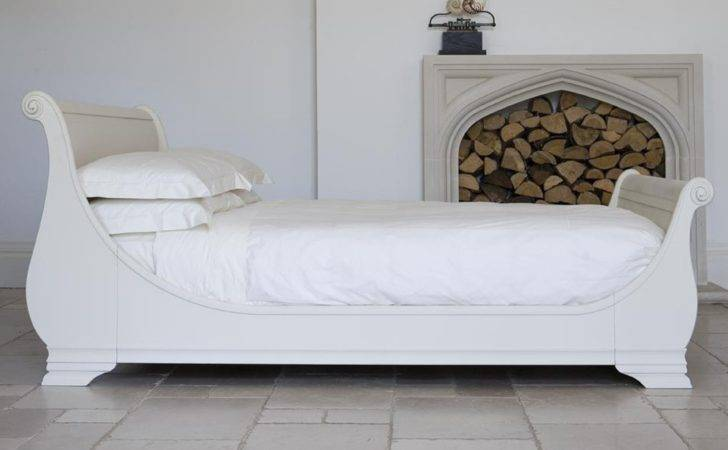 Manoir Bed Hand Painted Sleigh Cream More Colour
