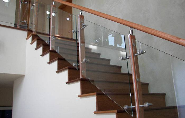 Maple Stair Glass Railing Stainless Steel Handrail Stand