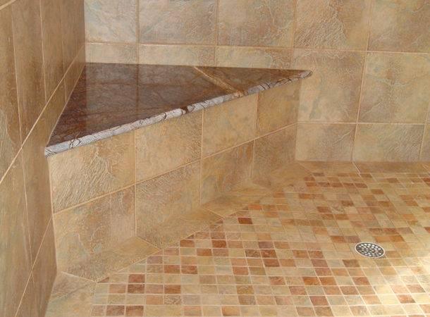 Marble Seat Threshold Shower
