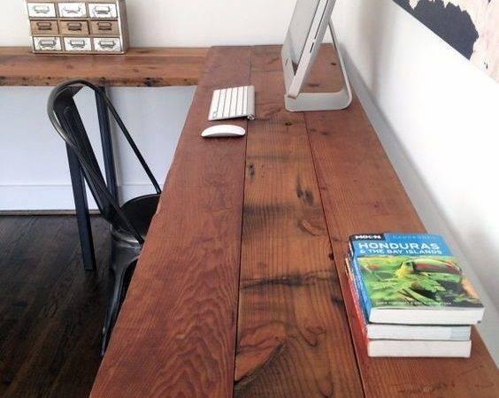 Marcus Desk Reclaimed Ceiling Dyi Office Idea