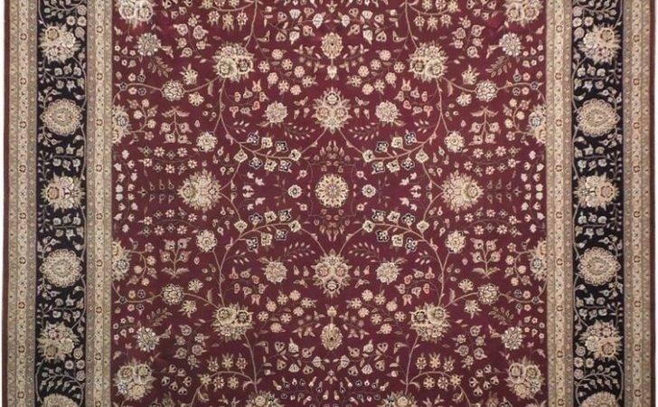Maroon Oriental Handmade High End Wool Silk Rug Ebay