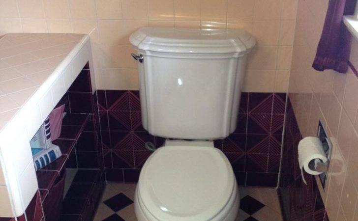 Maroon Pink Bathroom Amazing Vintage Tile Retro Renovation