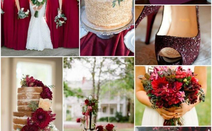 Maroon Wedding Decoration Themed Ideas Burgundy Silver