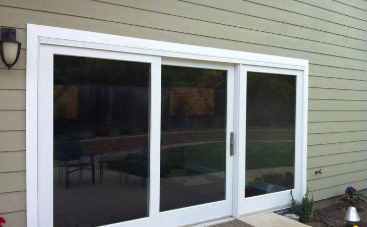 Marvin Three Panel Clad Sliding French Door Glass