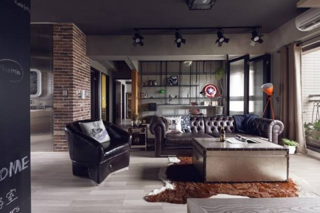 Masculine Interior Design Industrial Accents Inspired Popular