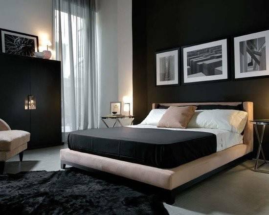 Masculine Modern Bedroom Dark Feature Wall Followpics
