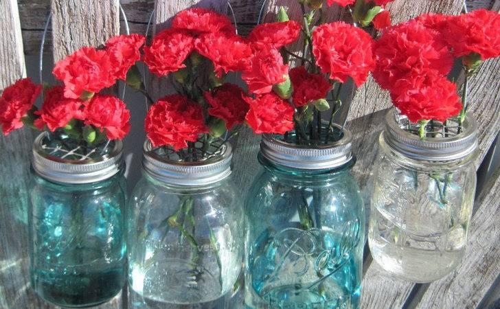 Mason Jar Hanging Flower Vases Frog Diy Lid
