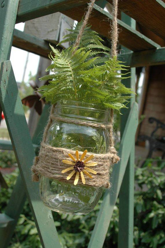 Mason Jar Wrapped Jute Bright Pineknobsandcrickets