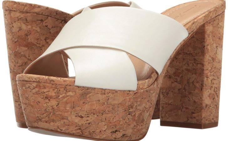 Massimo Matteo White Cork Platform Sandal Lyst