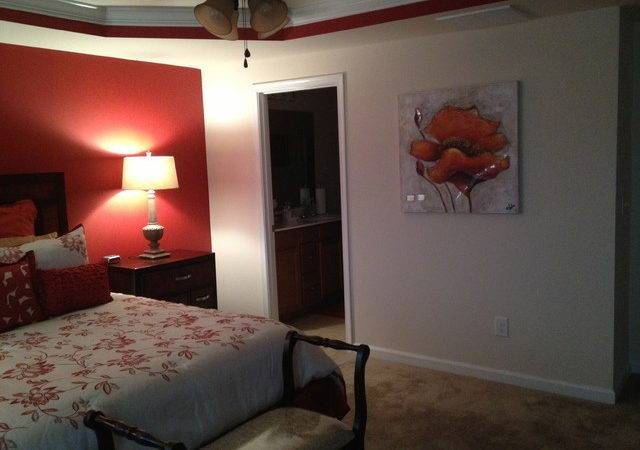 Master Bedroom Accent Wall Traditional Raleigh