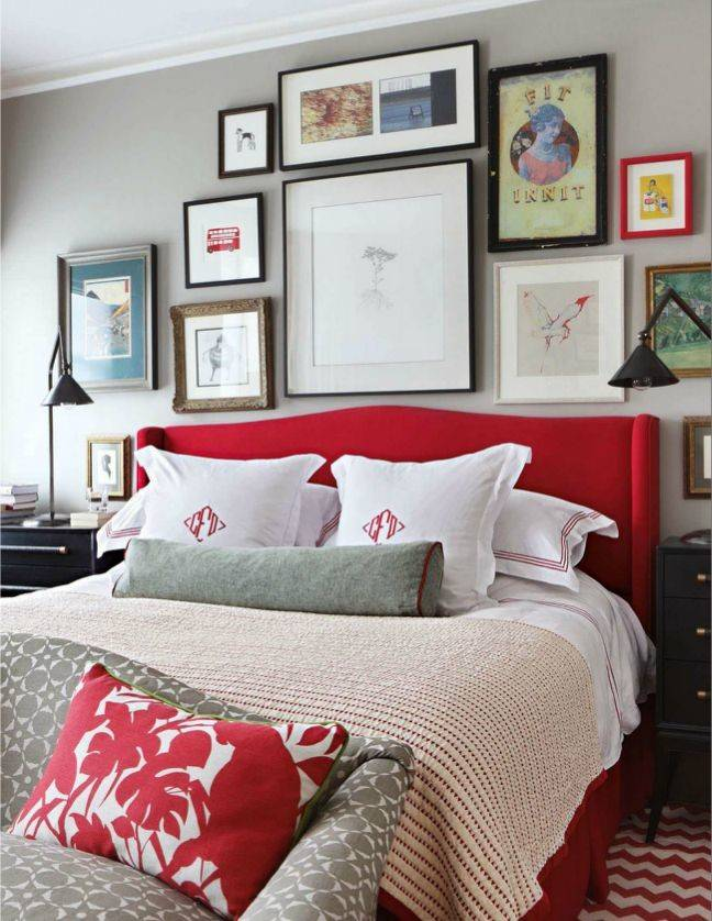 Master Bedroom Grey Red Palette Pinterest