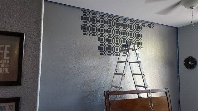Master Bedroom Stencil Accent Wall Ideas Painting