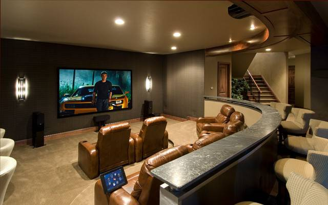 Media Rooms Theaters Traditional Room