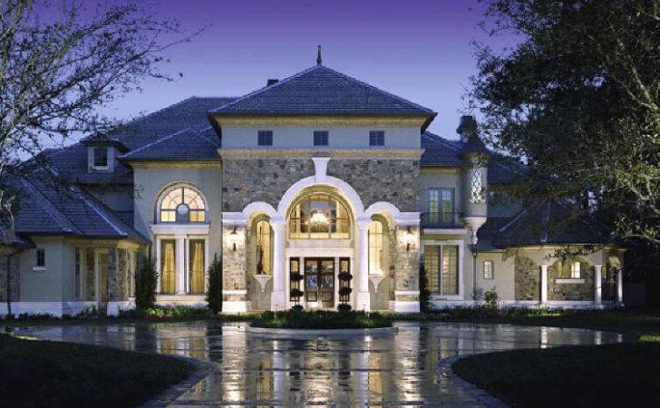 Mediterranean French Luxury Houses Plans