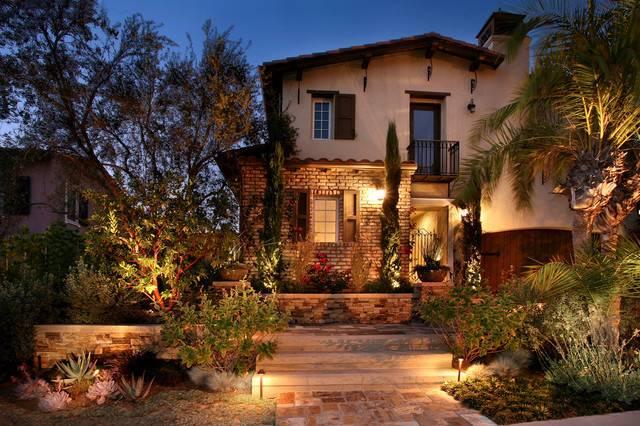 Mediterranean Landscape Ideas Homes Light