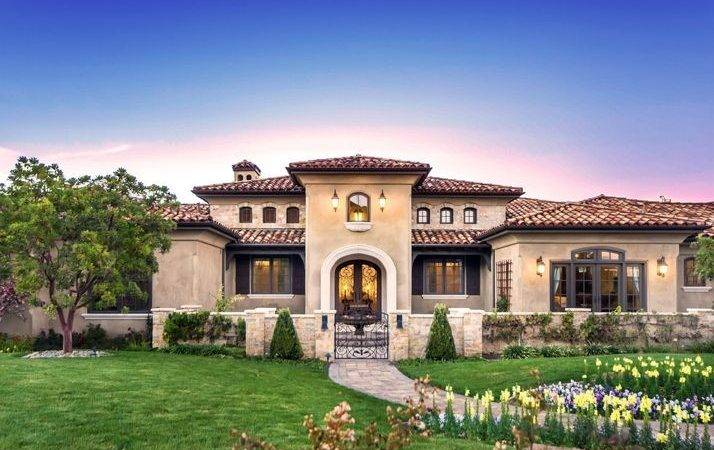 Mediterranean Tuscan Home House Exterior Luxury Pinterest