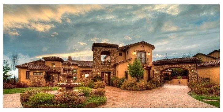 Mediterranean Tuscan Homes Pinterest