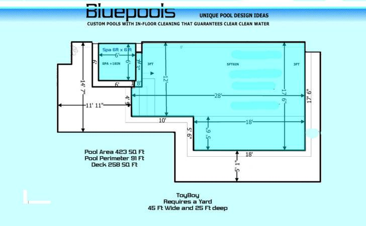 Medium Rectangular Pool Spa Wetdeck