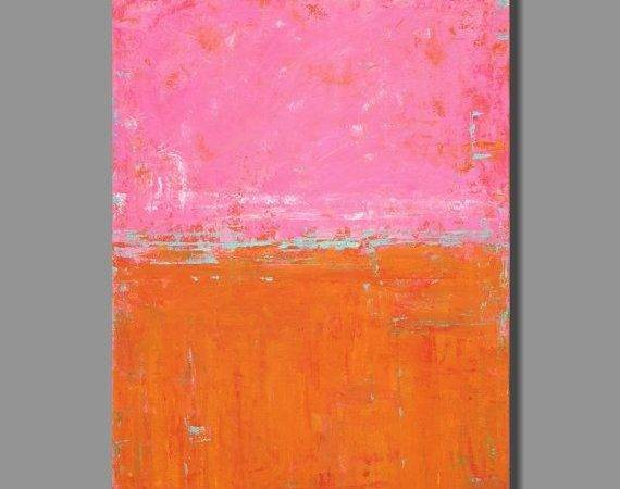 Mercury Pink Abstract Painting Large Bold Colors