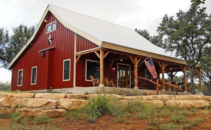 Metal Barn Houses Country Home Kit Open Porch