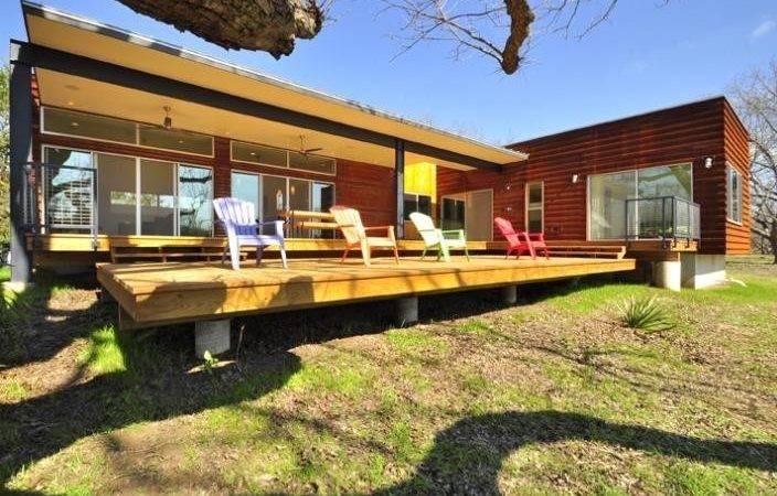 Metal Facade Austin Texas Modern Prefab Modular Homes Prefabium