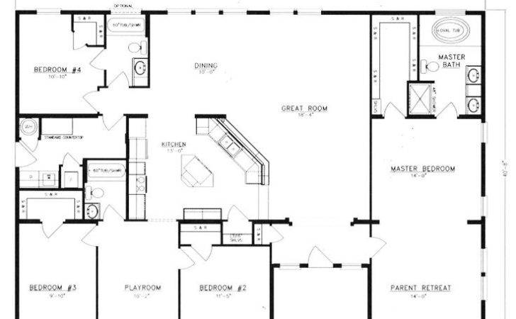 Metal Homes Floor Plans Pole Barn House