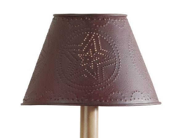 Metal Punched Star Red Lamp Shade Park Designs