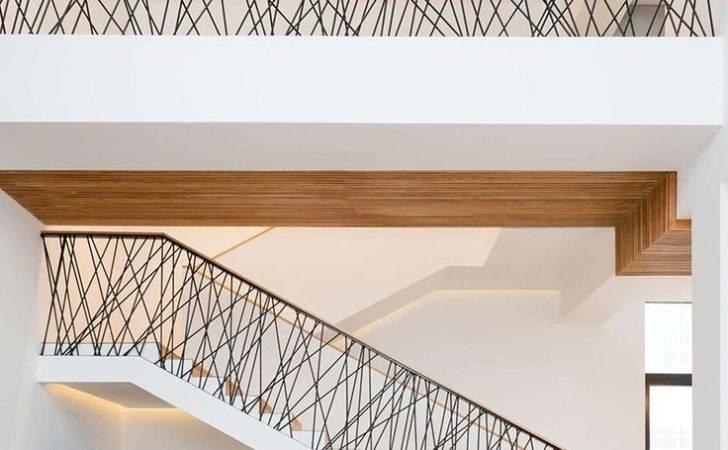 Metal Staircase Railings Modern Interior Stair Railing