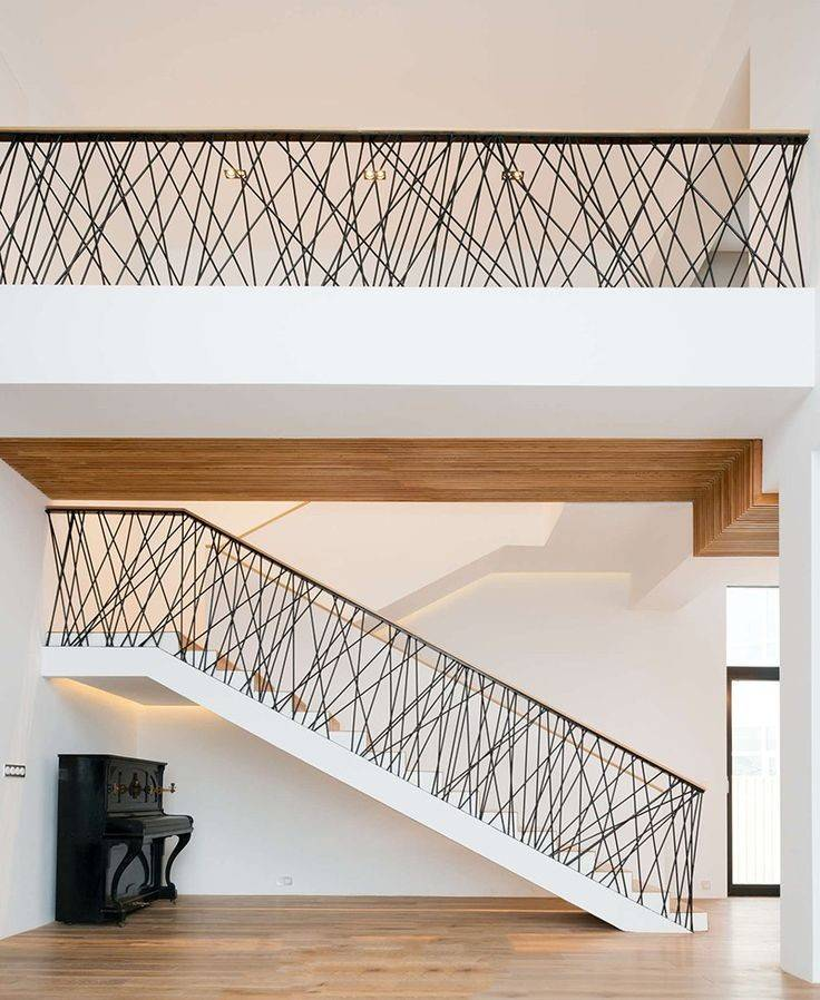 Metal Staircase Railings Modern Interior Stair Railing