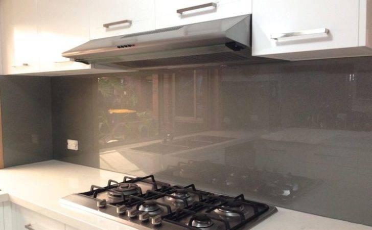 Metallic Charcoal Coloured Glass Splashbacks Kitchensplashbacks