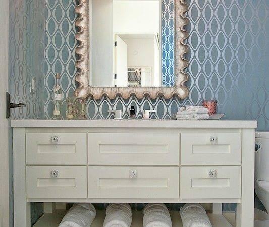Metallic Contemporary Bathroom Glynis Wood Interiors