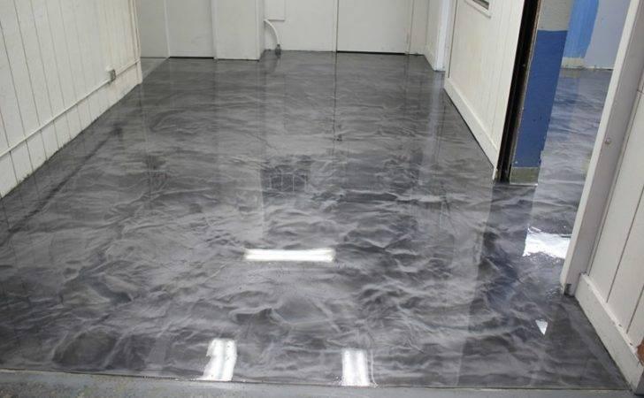 Metallic Epoxy Flooring Box Manufacturing Plant Ink Kitchen