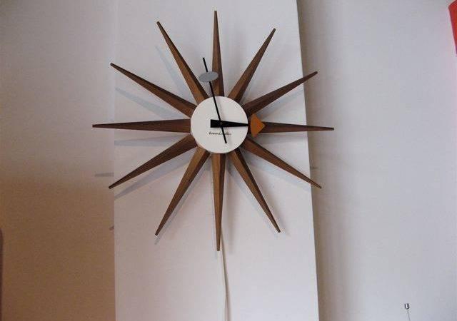 Metro Modern George Nelson Sunburst Wall Clock
