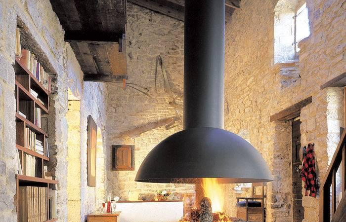 Mezzofocus Hotte Foyer Floating Hood Fireplace