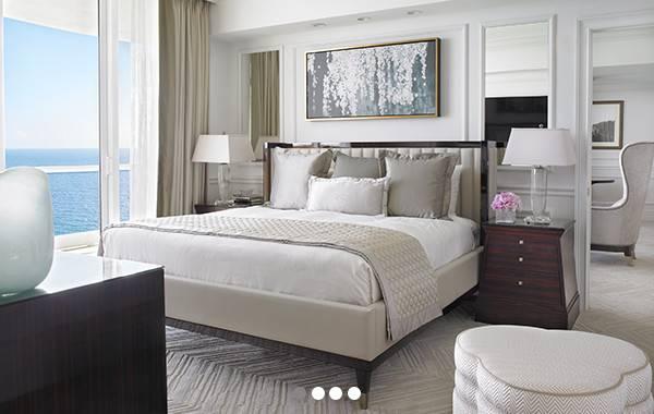 Miami Beach Hotel Suites Deluxe Bedroom Oceanfront Suite