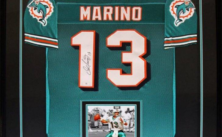 Miami Dolphins Signed Jersey Frame
