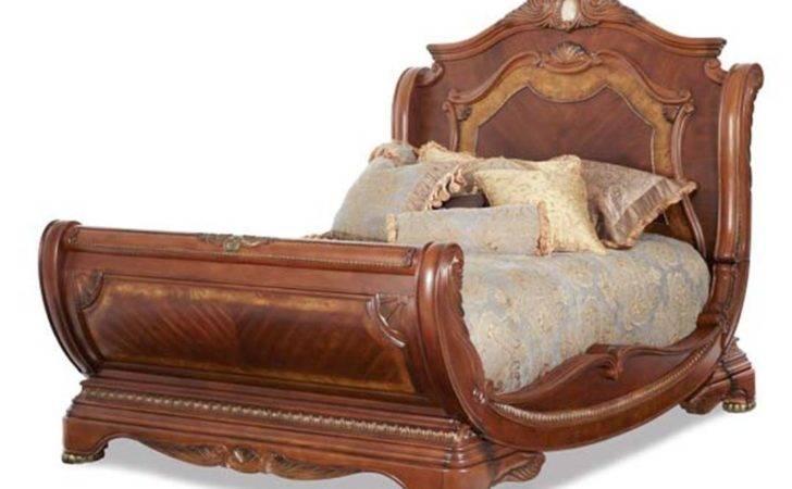 Michael Amini Cortina Traditional California King Sleigh Bed Aico