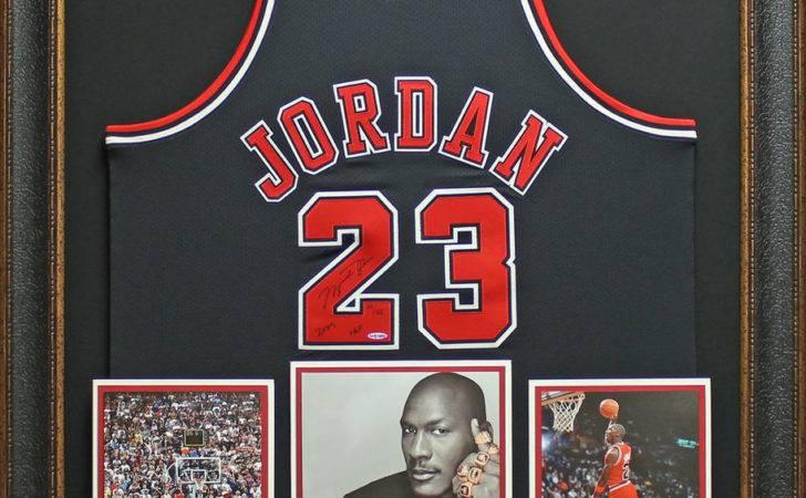 Michael Jordan Autographed Uda Hall Fame Jersey Framed Ebay