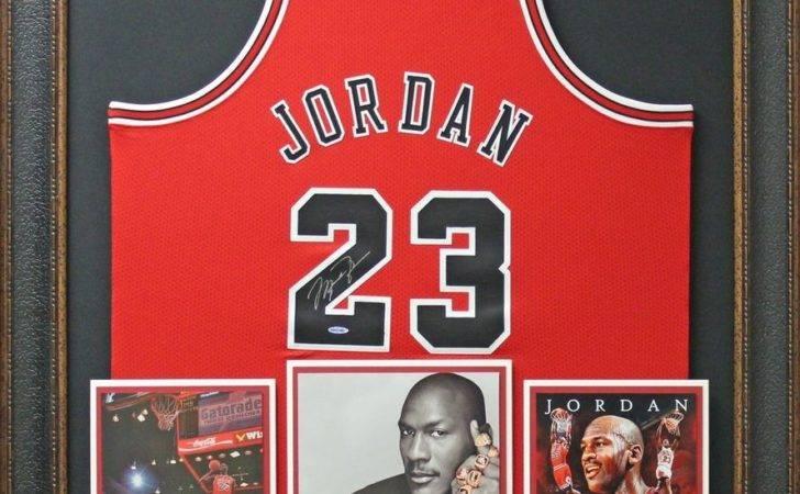Michael Jordan Signed Bulls Red Jersey Framed Display Ebay