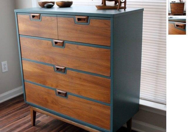 Mid Century Modern Dresser Painted Furniture Painting