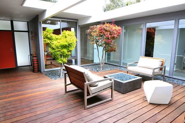 Mid Century Modern Eichler Renovation Midcentury Deck San