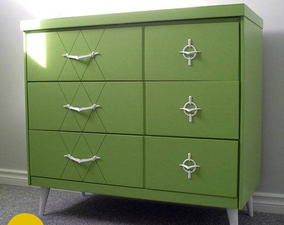 Mid Century Modern Furniture Painted Before After
