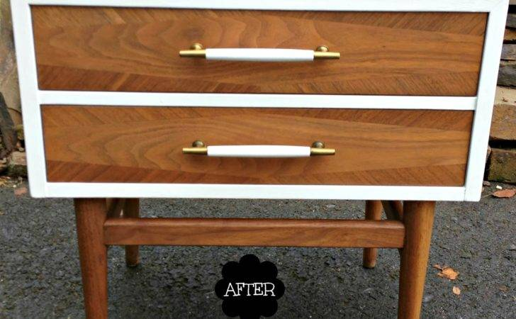 Mid Century Modern Furniture Painted Makeover