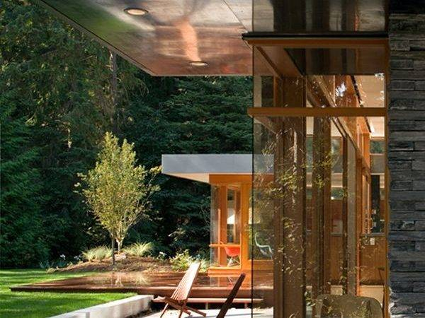 Mid Century Modern Home Nature Backdrop Architecture
